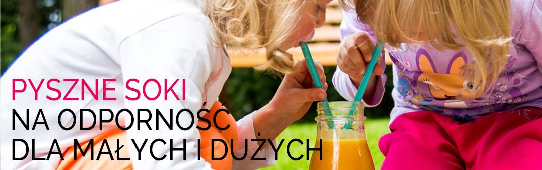 Pyszne soki na odporność dla małych i dużych